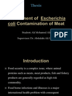 Assessment of  Escherichia coli Contamination of Meat
