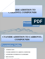 Cyanide Addition to Carbonyl Compounds