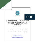 EL TESORO de LOS TESOROS de Paracelso Trad by Ismael Berroeta