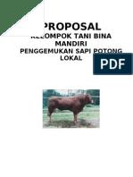 Contoh Proposal Kelompok Tani Sapi