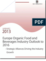 Europe Organic Food and Beverages Industry Outlook to 2016 - Strategic Alliances Driving the Industry Growth