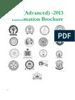 IIT Advanced Information Brochure 2013