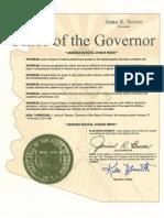Arizona Proclamation 2013