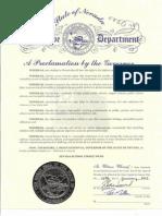 Nevada Proclamation 2013