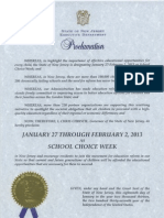New Jersey Proclamation 2013