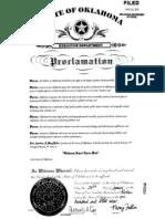 Oklahoma Proclamation 2013