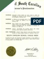 South Carolina Proclamation 2013