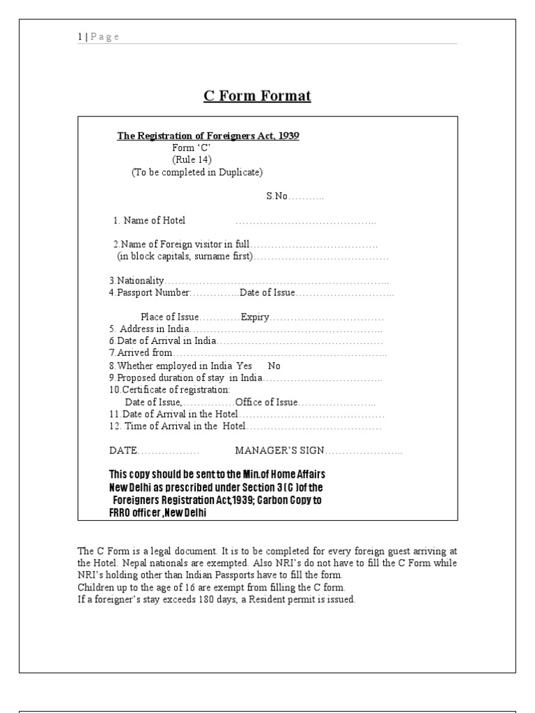 C form official documents national security altavistaventures Image collections