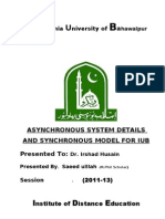 Asynchronous interactions in distance education