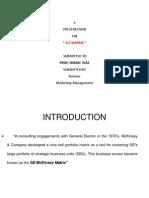 G.E Matrix Marketing Management