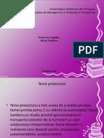 Logistica proiect Dacia