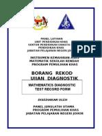Borang Rekod Ujian Diagnostik