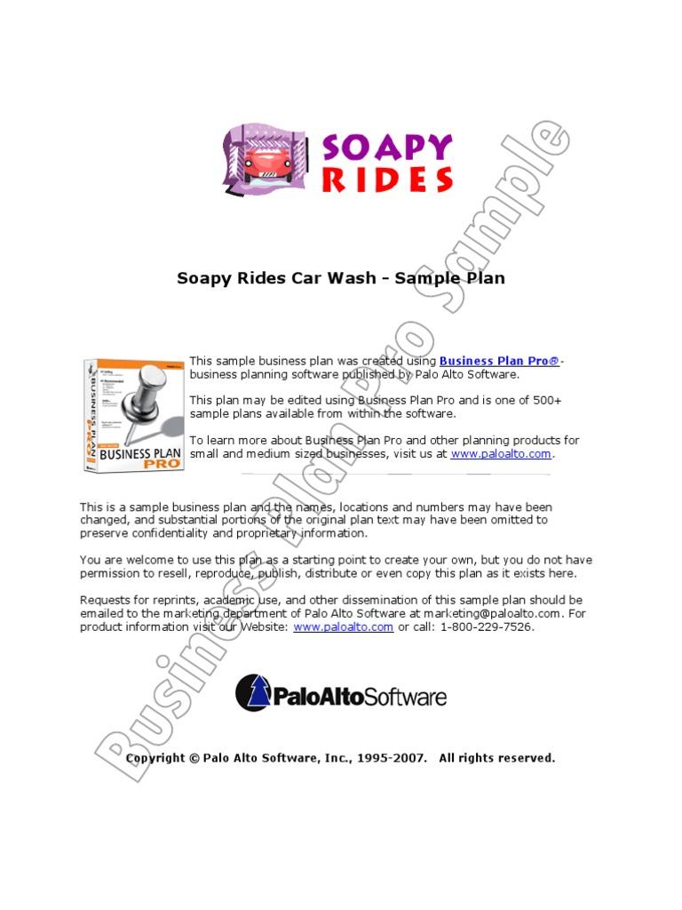 Soapy Rides Carwash Business Plan Balance Sheet – Car Wash Business Plan Template