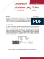 Sensirion Humidity SHT21 Interfacing With ToumazTZ1053 V1