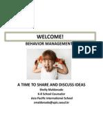 early childhood conference presentation-behavior management