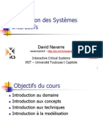 Conception Des Systemes Interactifs