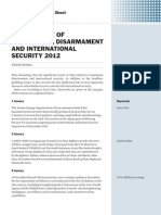 Chronology of armaments, disarmament and international security 2012