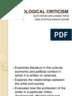 Sociological Criticism