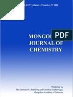 Mongolian Journal of Chemistry