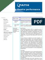 operation theatre performance