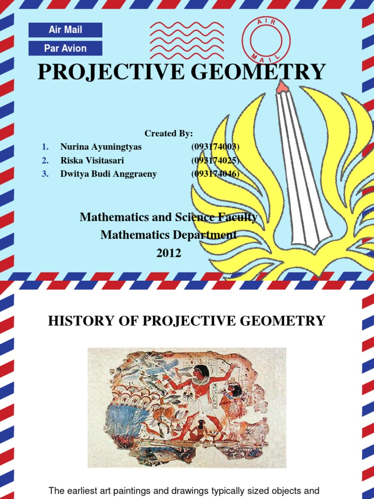 Projective geometry projective geometry perspective graphical
