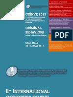 CRINVE 2013 Program - 10 -12 Maggio 2013 - Milano