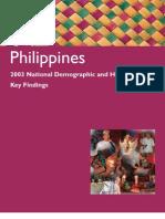 PHILIPPINES STATISTICS 2003