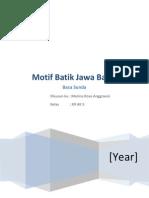 Motif Batik Sunda