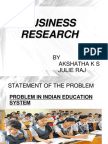 business research on education system