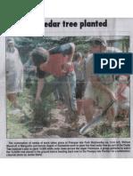Mining Journal Photo of '10,000th Cedar Tree Planted' 7-12-12