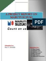 MCS on Maruti Suzuki