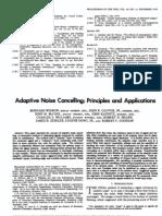 Adaptive Noise Cancelling