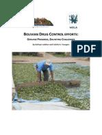 Bolivian Drug Control Efforts