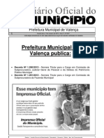 Diario Oficial Do Municipio de Valenca Bahia Edicao 607