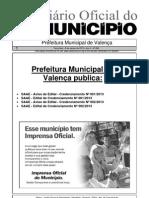 Diario Oficial Do Municipio de Valenca Bahia Edicao 606