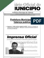 Diario Oficial Do Municipio de Valenca Bahia Edicao 608