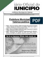 Diario Oficial Do Municipio de Valenca Bahia Edicao 612