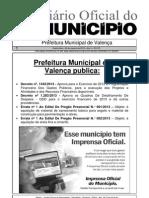 Diario Oficial Do Municipio de Valenca Bahia Edicao 615