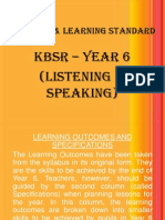 content & learning standards kbsr yr 6
