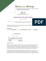 Deeper look at the Islamic veil