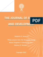 """Policy Lessons from Ten Renewable Energy Access Programs in Developing Asia,"" by Benjamin K. Sovacool"