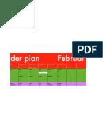 Arbeitsplan Feb