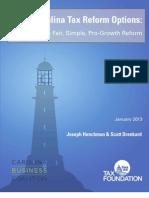 North Carolina Tax Reform Options