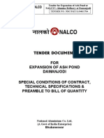 Specia Conditions, Tech Spec & Preamble for Ash pond