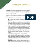 Evaluaci�n del impacto ambiental.doc