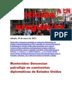 Noticias Uruguayas sábado 19 de enero del 2013