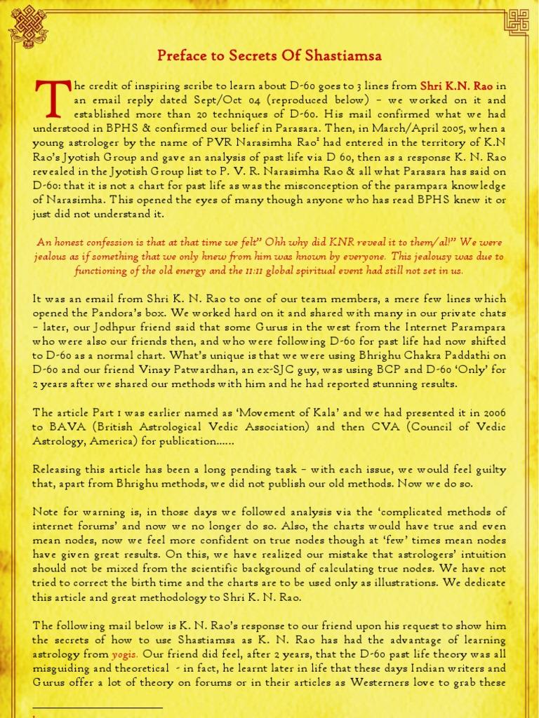 Astrology secrets - The sashtiamsa chart | Astrology | Astronomy