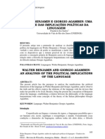 Walter Benjamin e Giorgio Agamben Uma Analise Das Implicac