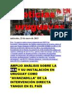Noticias Uruguayas miércoles 23 de enero del 2013