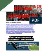 Noticias Uruguayas Jueves 24 de Enero Del 2013
